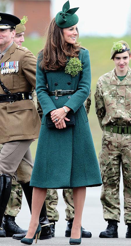 герцогиня Кембриджская на параде в честь Дня святого Патрика