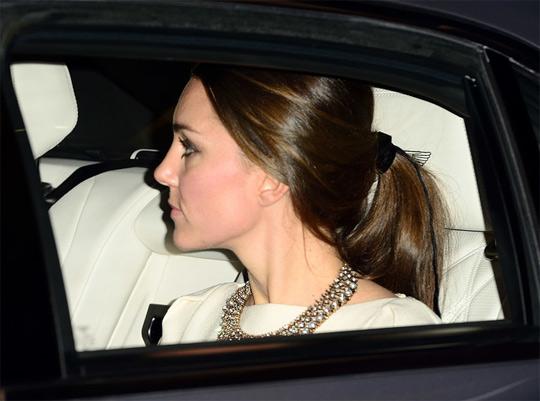 Кейт Миддлтон в массивном колье из бриллиантов