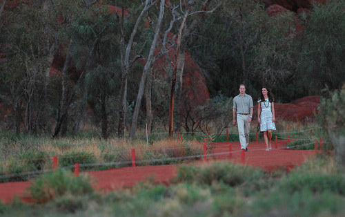 Кейт и Уильям в национальном парке Улуру-Ката Тьюта в Австралии