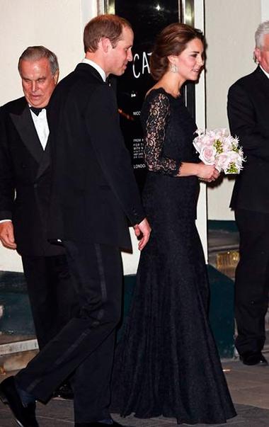 Кейт Миддлтон в черном платье