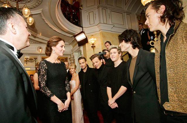 Кейт Миддлтон с американской группой One Direction