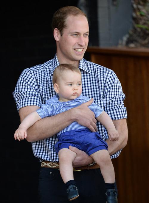 Принц Джордж в зоопарке Таронга в Австралии