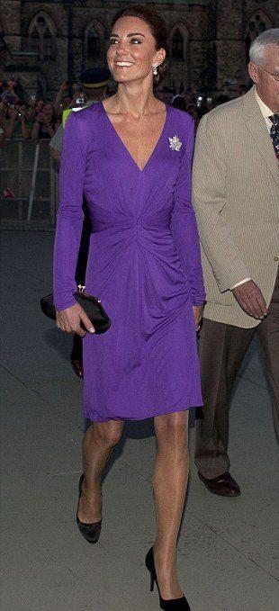 миддлтон фиолетовое платье Issa Канада 2011