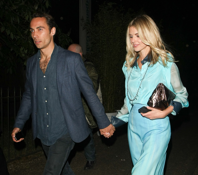 James Middleton and Donna Air pictured leaving The Serpentine Gallery Summer Party, London, UK