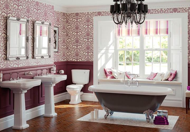 Английский стиль ванной комнаты