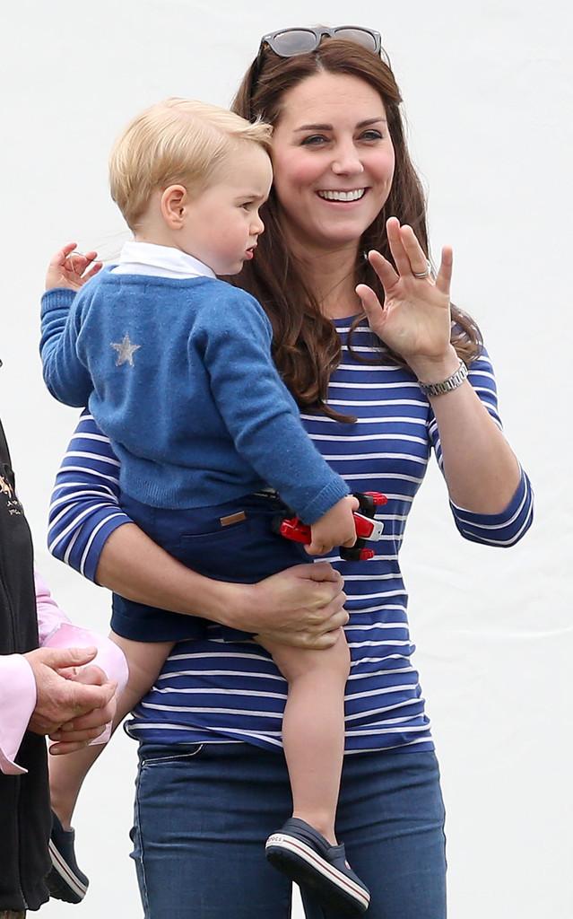 принц Джордж и Кейт Миддлтон