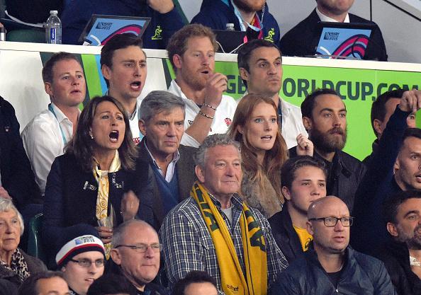 Семья Миддлтонов и принц Гарри посетили мировой чемпионат по регби