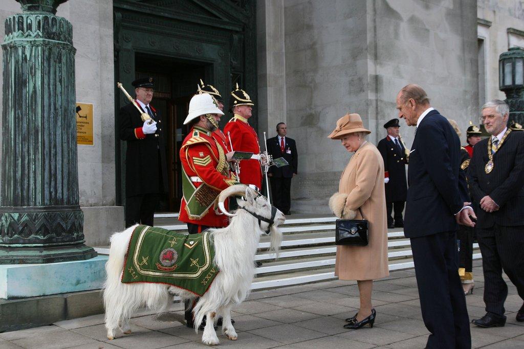 queen-Prince-Philip-admired-ceremonial-goat-Swansea