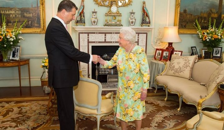 Королева Великобритании Елизавета II встретилась с латвийским президентом