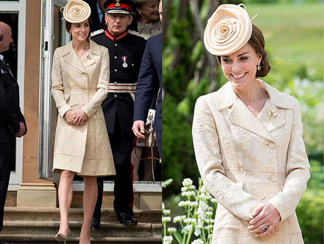 BELFAST, NORTHERN IRELAND - JUNE 14: Catherine, Duchess of Cambridge attends the Secretary of State's annual Garden party at Hillsborough Castle on June 14, 2016 in Belfast, Northern Ireland. (Photo by Mark Cuthbert/UK Press via Getty Images)