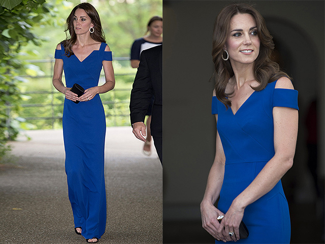 LONDON, UNITED KINGDOM - JUNE 09: Catherine, Duchess of Cambridge attends SportsAid's 40th anniversary dinner on June 9, 2016 in London, England. On arrival, The Duchess will met SportsAid ambassadors and young athletes who will be competing in the Rio 2016 Olympics at a pre-dinner reception, as well as some of the charity's key supporters. (Photo by Eddie Mulholland - WPA Pool/Getty Images)
