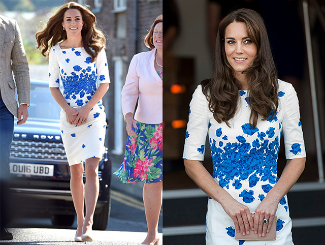 LUTON, ENGLAND - AUGUST 24: Catherine, Duchess of Cambridge visits Bute Mills on August 24, 2016 in Luton, England. (Photo by Mark Cuthbert/UK Press via Getty Images)