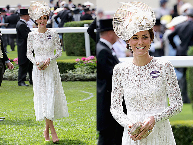 ASCOT, ENGLAND - JUNE 15: Catherine, Duchess of Cambridge attends the second day of Royal Ascot at Ascot Racecourse on June 15, 2016 in Ascot, England. (Photo by Chris Jackson/Getty Images)