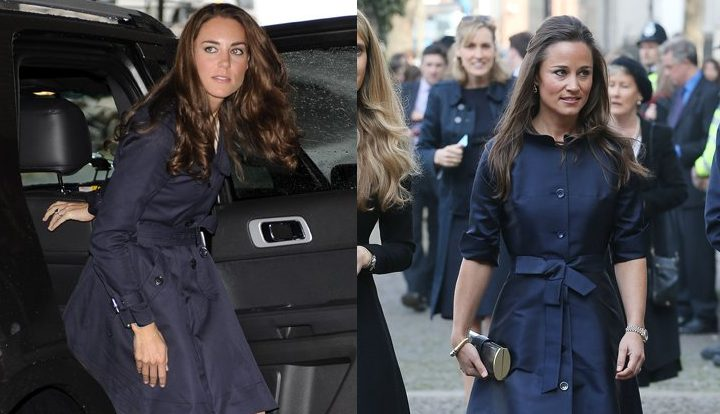 Кейт и Пиппа Миддлтон одевались одинаково