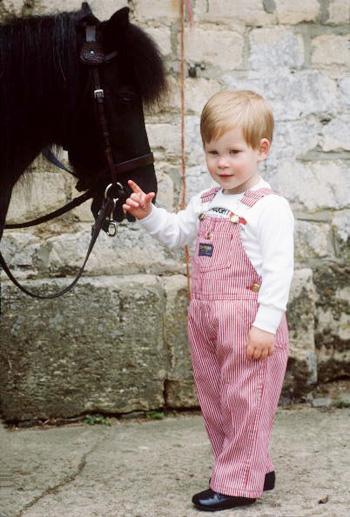 Принц Гарри в раннем детстве