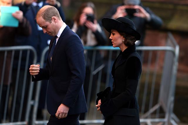 Кейт Миддлтон и принц Уильям посетили панихиду по герцогу Вестминстерскому