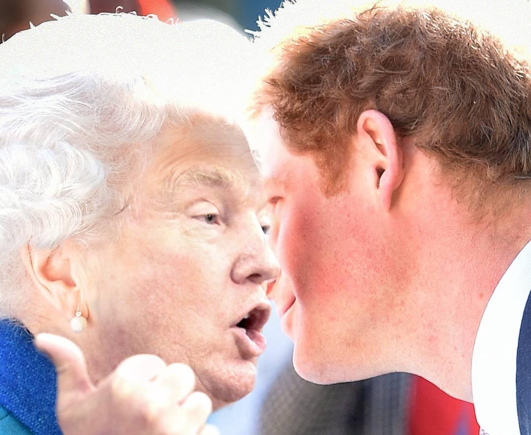 Пользователь Инстаграм показал Трампа в образе королевы Елизаветы II