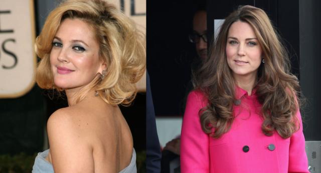 Дрю Бэрримор предпочла бы встречаться с Кейт Миддлтон, а не с Уильямом или Гарри