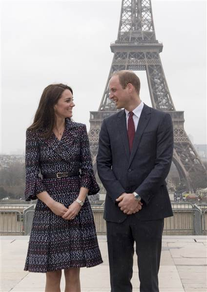 Как прошел 2-й день Кейт и Уилла в Париже