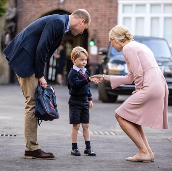 Кейт Миддлтон не было с Джорджем в первый школьный день