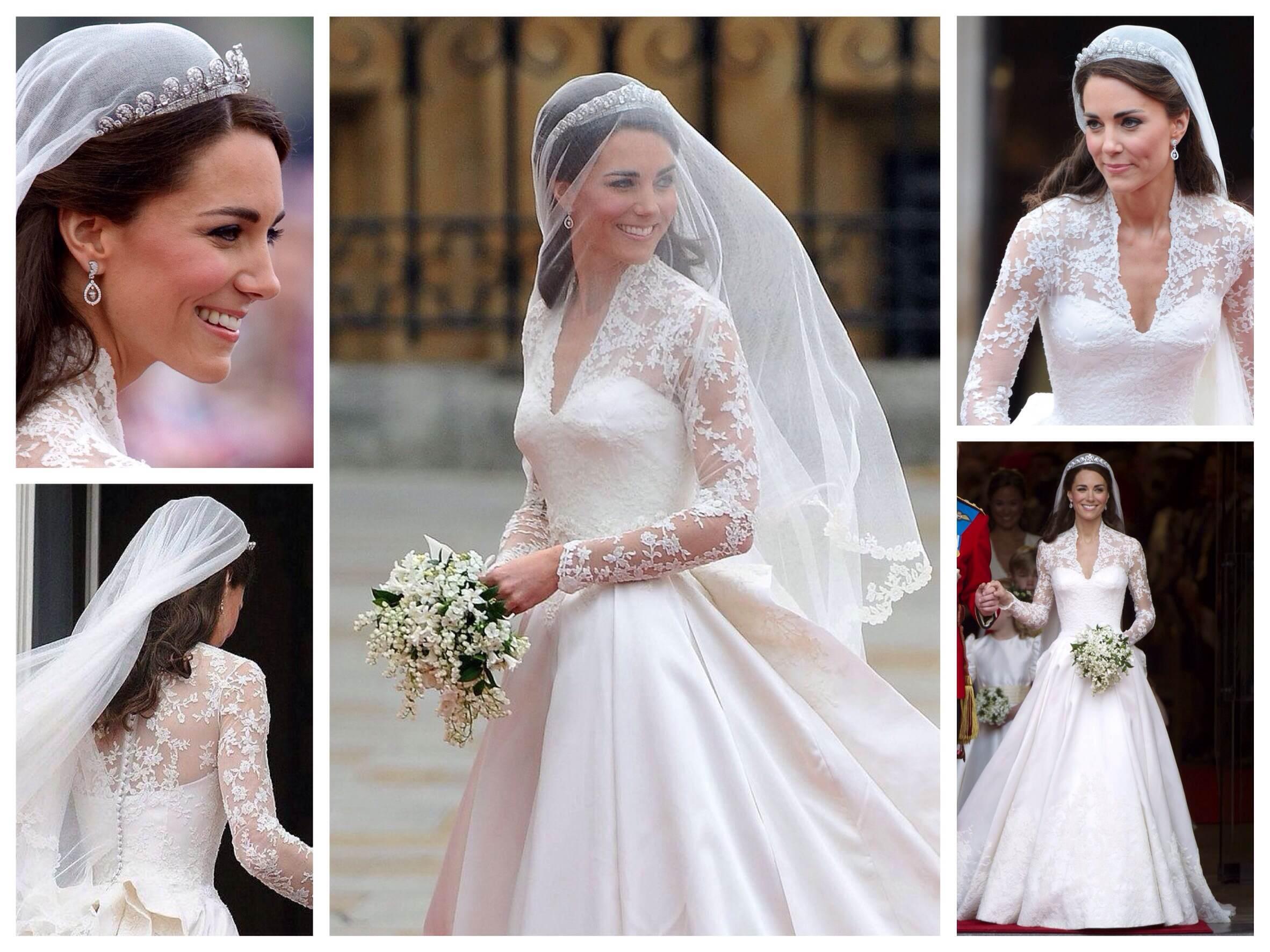 Кейт Миддлтон и несколько фактов о ее свадебном платье