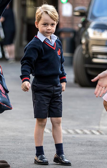 Сын Кейт Миддлтон и его первый школьный день с отцом