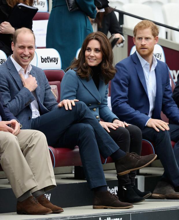 Кейт Миддлтон, Уильям и Гарри покровительствуют спорту