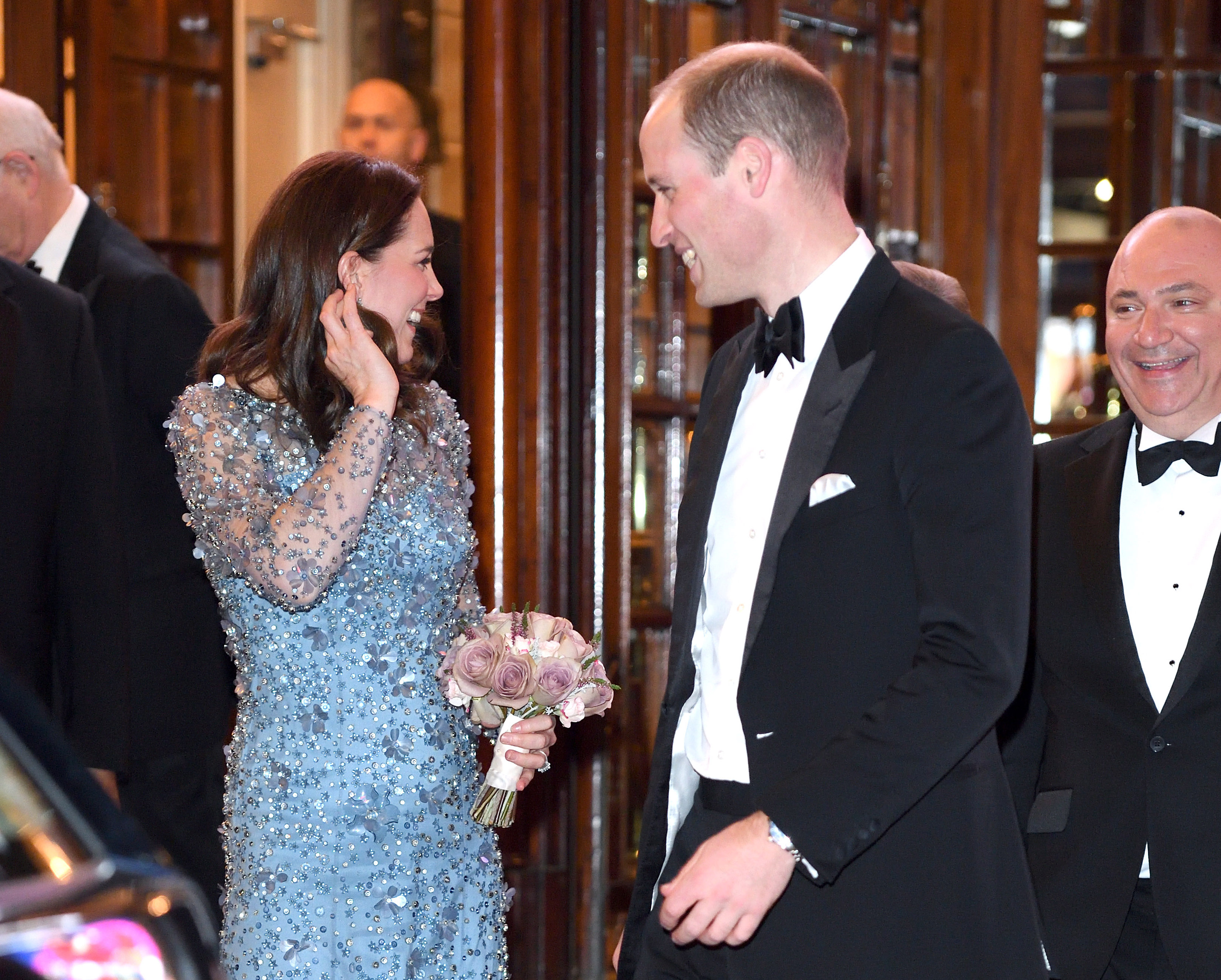 Кейт Миддлтон и Уильям на спектакле Royal Variety Performance