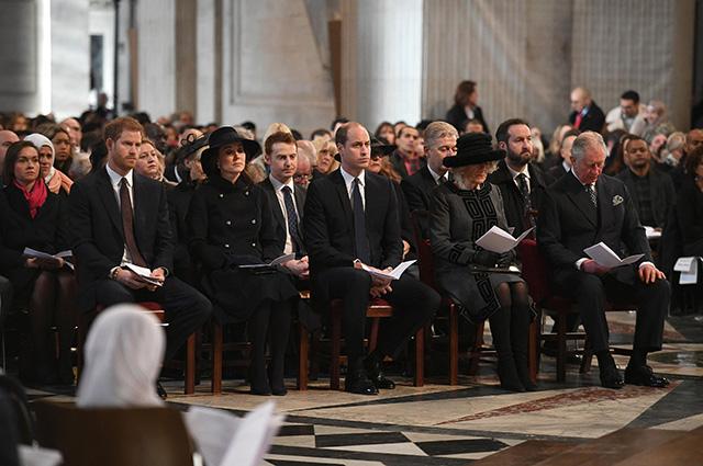 Кейт Миддлтон на траурной церемонии в соборе Святого Павла