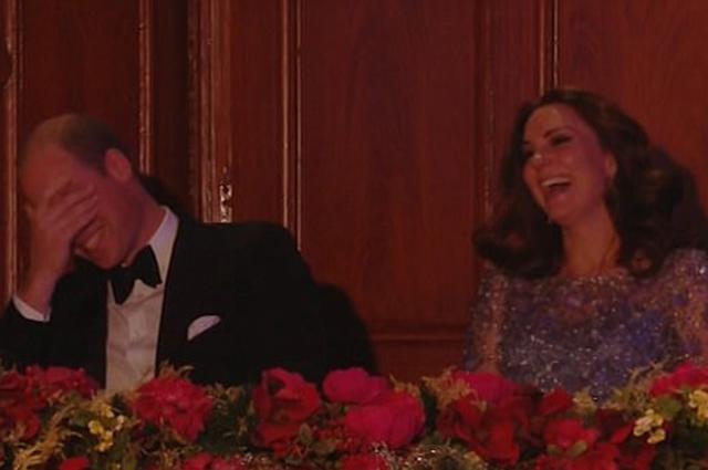 Муж Кейт Миддлтон развеселил детей на благотворительном вечере