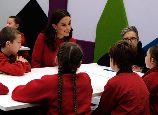 Кейт Миддлтон и ее встреча со школьниками в Манчестере на Global Media Summit