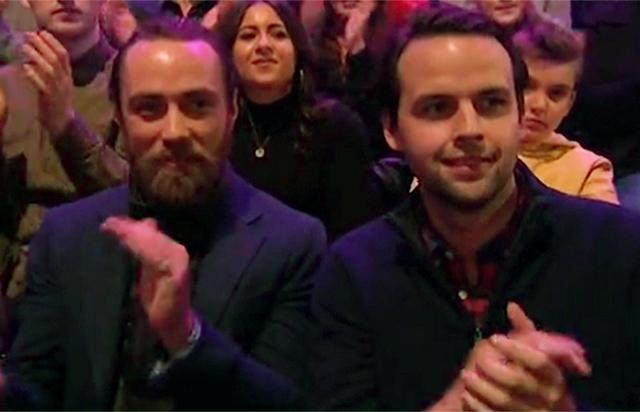 Джеймс Миддлтон на выступлении Донны Эйр на Dancing on Ice