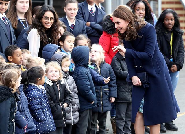 Кейт Миддлтон посетила лондонскую школу Reach Academy Feltham