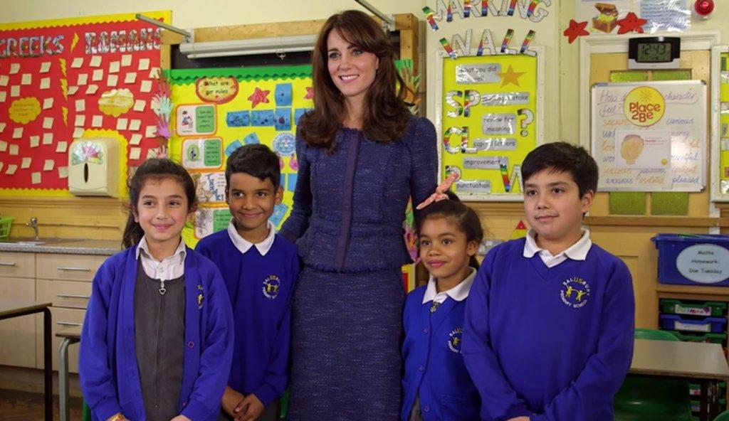 Кейт Миддлтон дала старт неделе детского психического здоровья в Великобритании