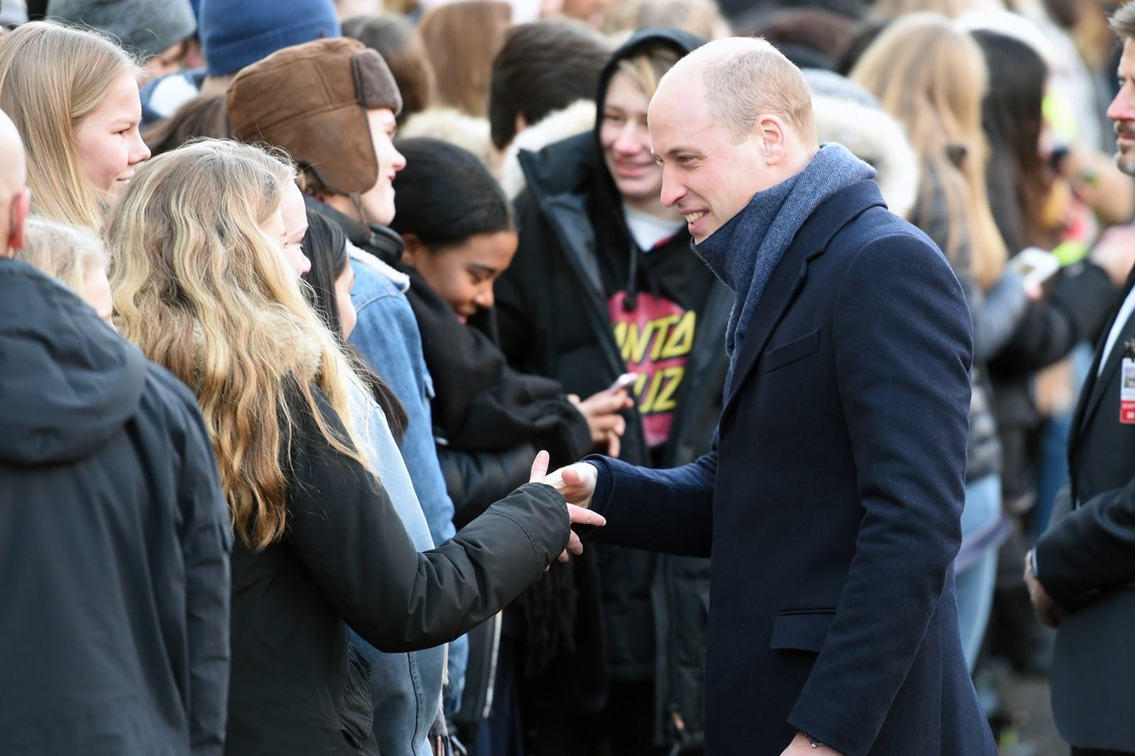 Уильям и Кейт Миддлтон в старейшей гимназии Осло