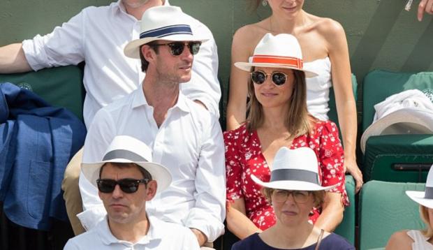 Беременная сестра Кейт Миддлтон с мужем уехала в Париж на Roland Garros