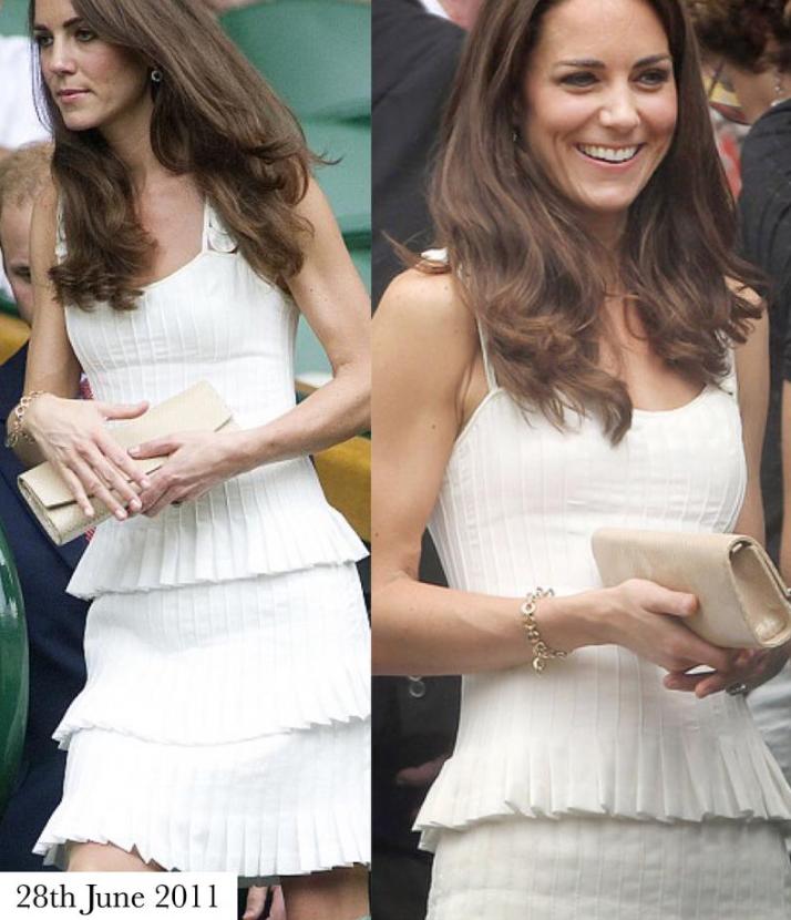 Образы Кейт Миддлтон на Уимблдоне в разные годы