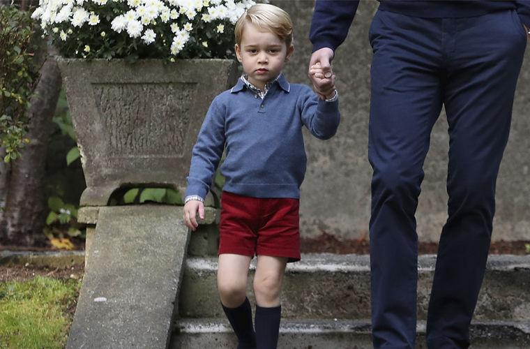 Стиль принца Джорджа – почему сын Кейт Миддлтон появляется на публике в шортах?