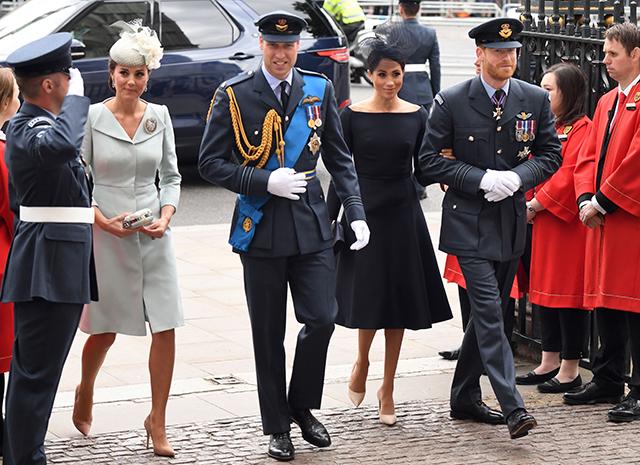 Кейт Миддлтон на параде ВВС в платье от Alexander McQueen