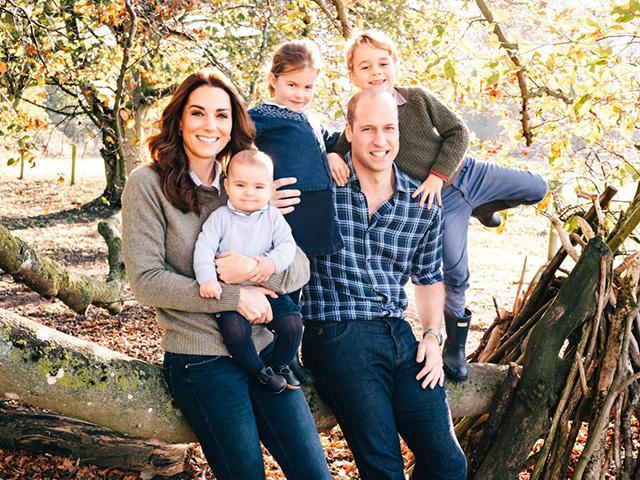 Принц Уильям и Кейт Миддлтон на рождественской открытке к Новому году