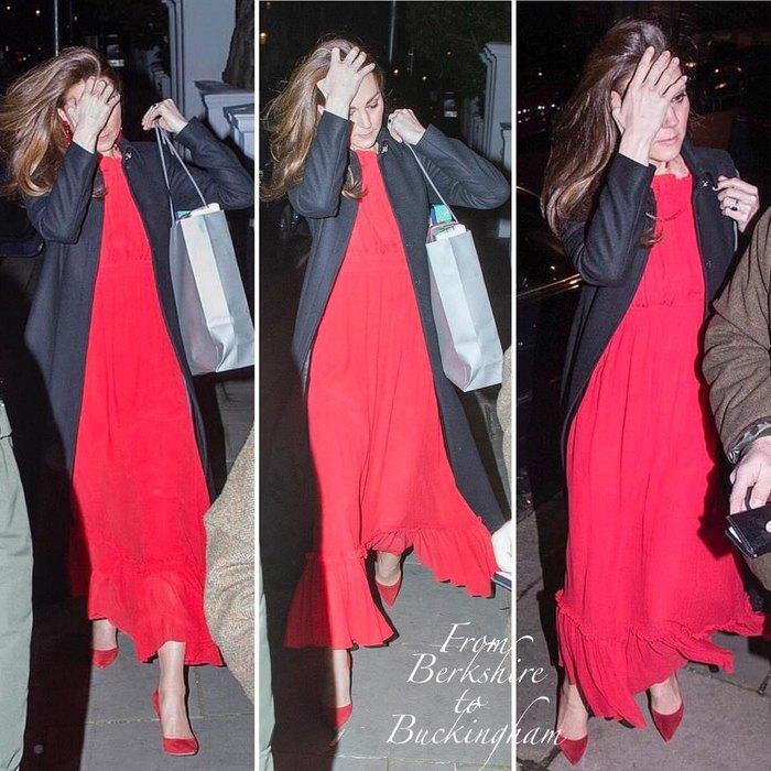 Кейт Миддлтон в платье от Alexander McQueen отметила день рождения мамы
