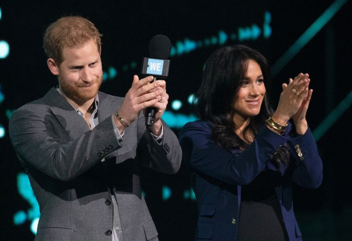 Принц Гарри и Меган Маркл выступили на мероприятии WE Day UK