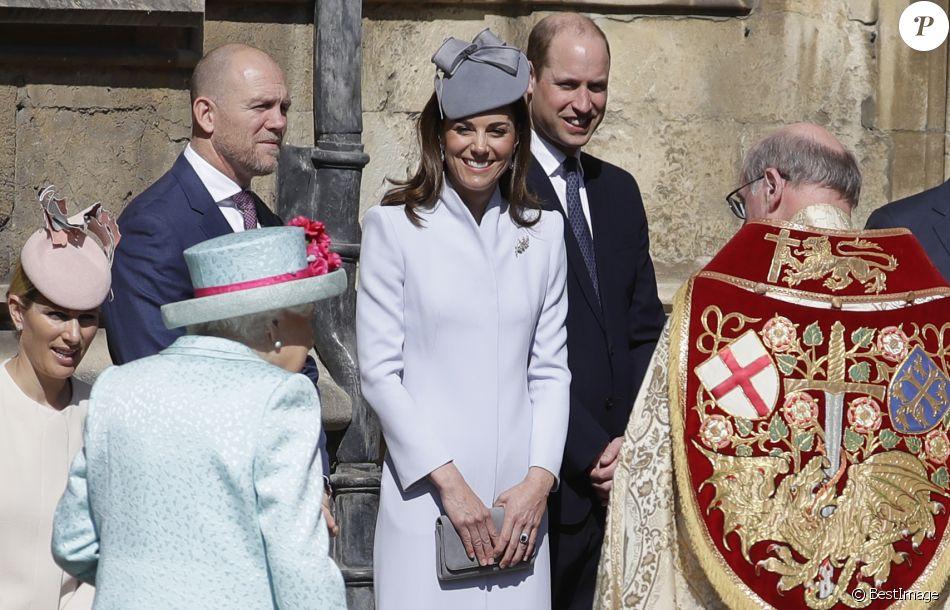 Елизавета II, Кейт Миддлтон, Уильям и другие на торжественной пасхальной церемонии