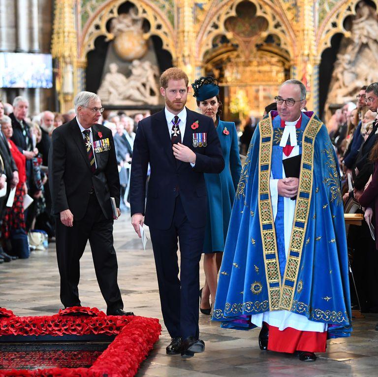 Принц Гарри и Кейт Миддлтон вместе появились на церемонии в Вестминстерском аббатстве