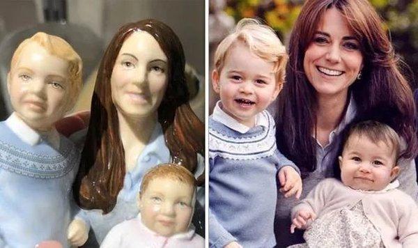 Жуткие фигурки Кейт Миддлтон и ее детей продаются в магазинах