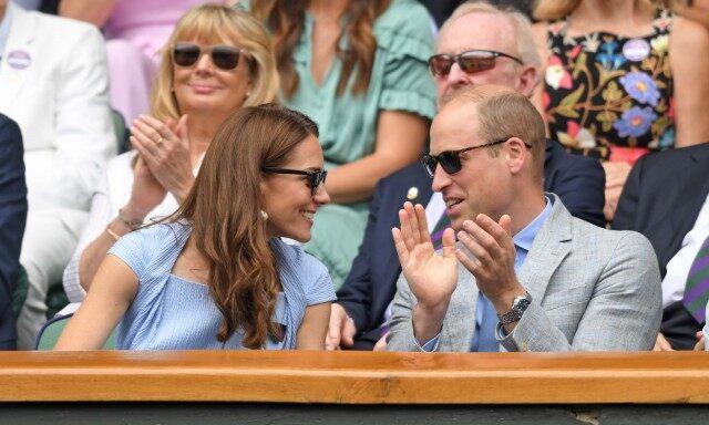 Принц Уильям и Кейт Миддлтон на финальном матче Уимблдона