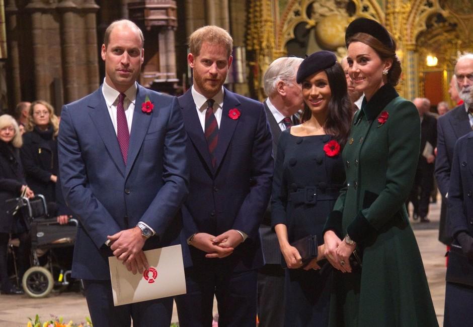 Скоро состоится совместный выход принцев Уильяма и Гарри с Кейт Миддлтон и Меган Маркл