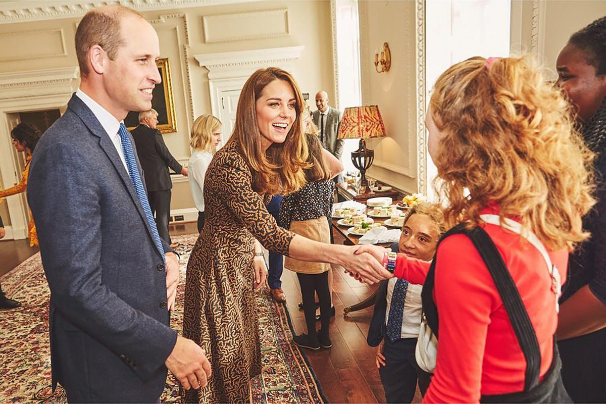 Принц Уильям и Кейт Миддлтон провели закрытую встречу с подростками в Кенсингтонском дворце