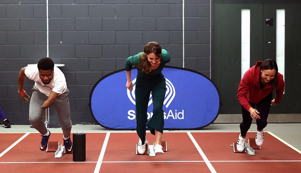 Кейт Миддлтон пробежалась на мероприятии от «SportsAid»