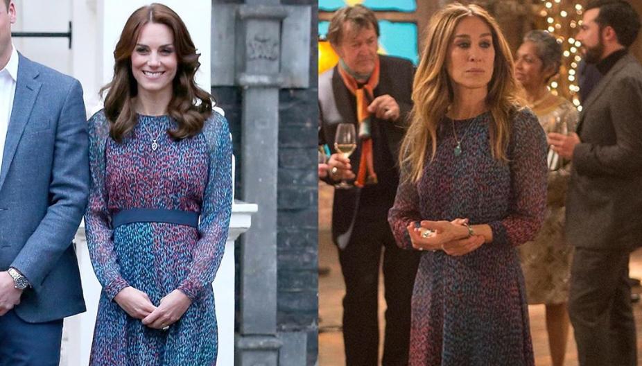 В сети заметили сходство между Кейт Миддлтон и Кэрри Брэдшоу из сериала «Секс в большом городе»